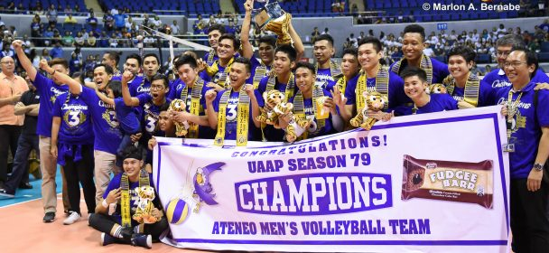 ATENEO BLUE EAGLES COMPLETE PERFECT SEASON, SEAL 3-PEAT