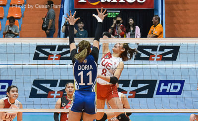 UE starts second round with four-set win over NU