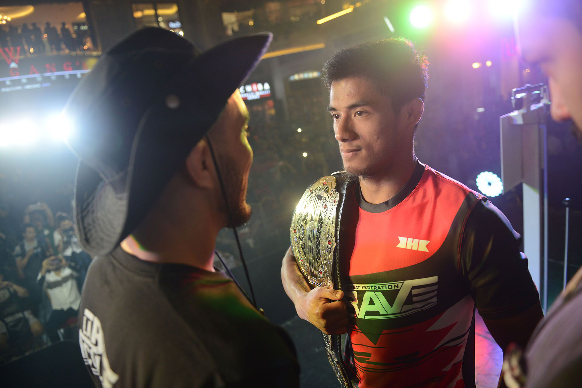 Intense staredowns steal show at Brave 22 weigh-ins
