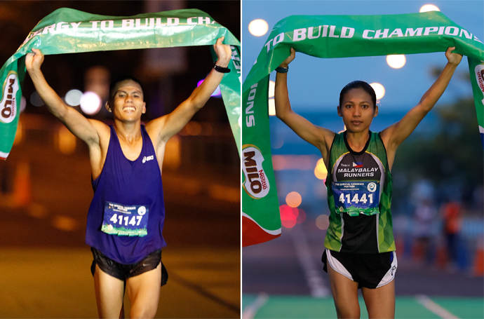 Nerza, Hallasgo brushed aside roadblocks to rule Milo Marathon MNL leg