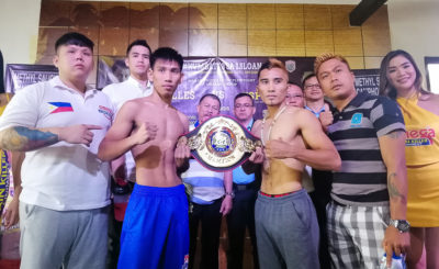 Unbeaten pug, veteran fighter clash for vacant WBA Asia belt