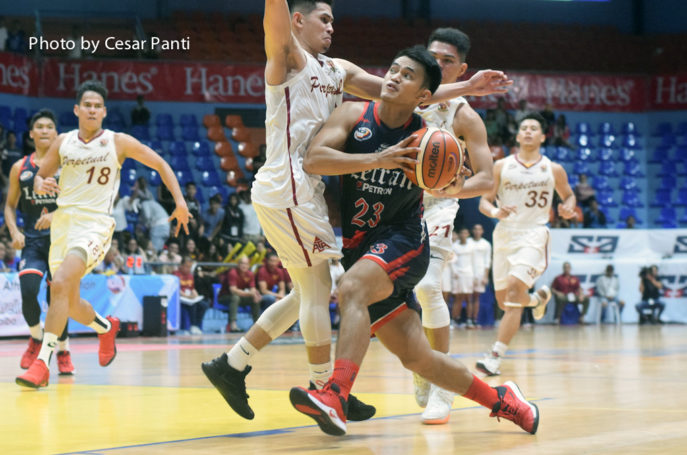 Letran downs Perpetual in overtime for third straight win