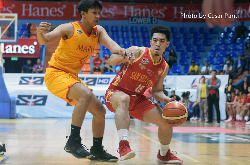 San Sebastian crushes Mapua for a share of the lead