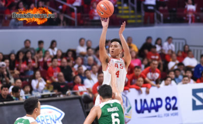 Suerte's clutch 3s power UE past La Salle for first win