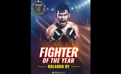 Rolando Dy bags BRAVE CF Fighter of the Year award