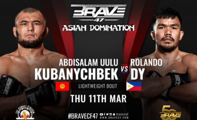 Rolando Dy to return to MMA action vs. Kyrgyzstan foe